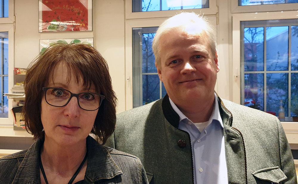 Gabriele Reinders und Oliver Ottmann vom BVR, Kooperationspartner