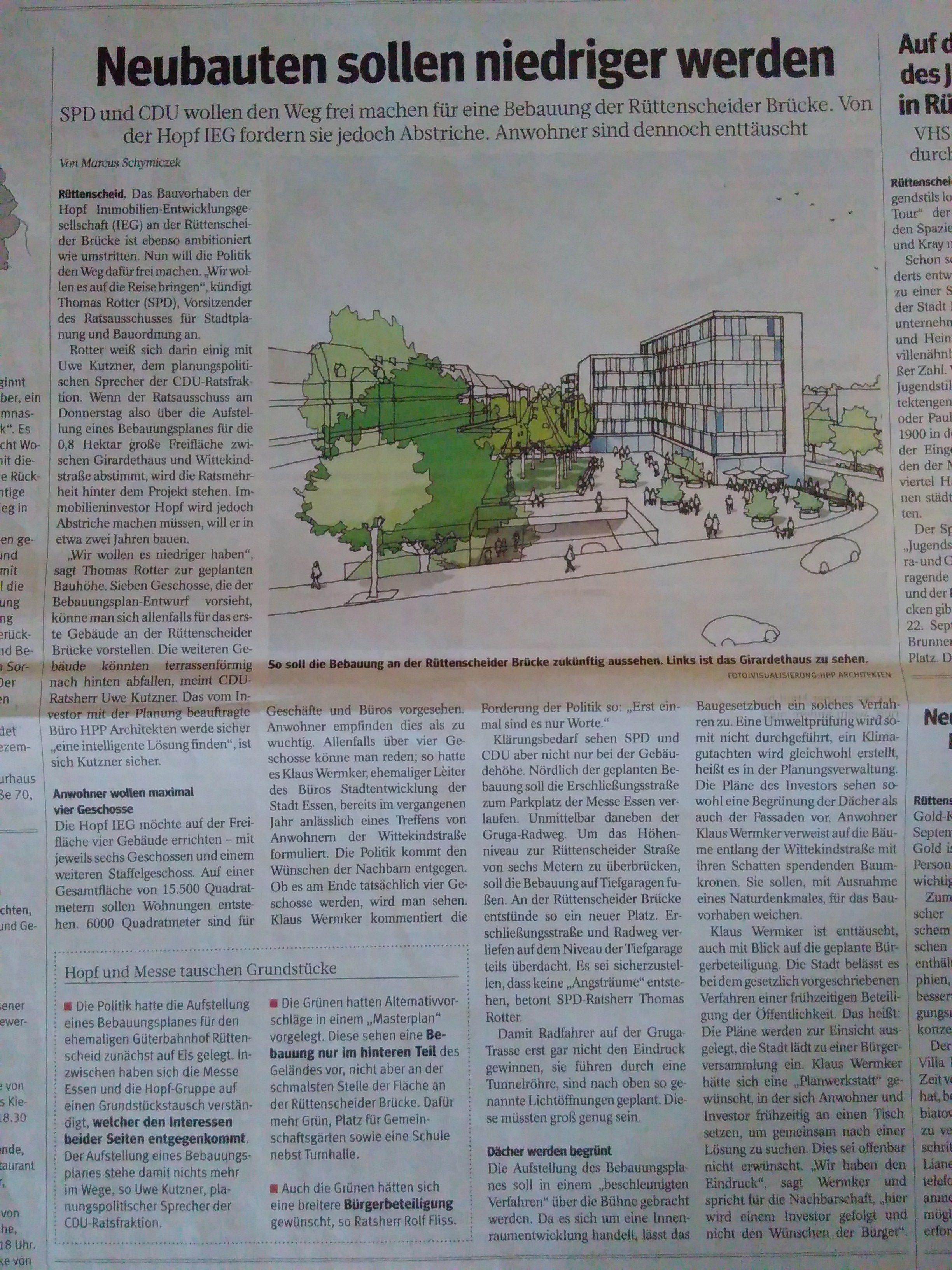 Presseartikel zum Hopf-Bau